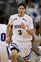 11 February 2012: Doug McDermott #3 of the Creighton Bluejays had 13 points against the Wichita State Shockers at the CenturyLink Center in Omaha, Nebraska.  Wichita State defeated Creighton 89 to 68.
