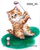Kayomi, CUTE ANIMALS, paintings, LittleGolfer_M, USKH95,#AC# illustrations, pinturas ,everyday