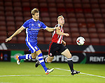 Glen Loosens of Sheffield Wednesday and Connor Hall of Sheffield Utd tussles during the U23 Professional Development League match at Bramall Lane Stadium, Sheffield. Picture date: September 6th, 2016. Pic Simon Bellis/Sportimage
