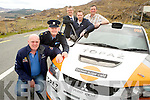 Dermot Healy, Clerk of the Course,Sgt  Dermot O'Connell, Killarney Gardaí, Patrick O'Donoghue, Gleneagle Hotel, Derek Daly, driver and Diarmuid Cronin, chairman Killarney and District Motor Club, pictured at the announcement that there will be a strong Garda presence in Killarney for the Rally of the Lakes in Killarney this weekend.