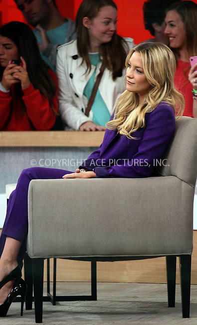 WWW.ACEPIXS.COM....April 23 2013, New York City....Actress Kate Hudson made an appearance at 'Good Morning America' on April 23 2013 in New York City......By Line: Zelig Shaul/ACE Pictures......ACE Pictures, Inc...tel: 646 769 0430..Email: info@acepixs.com..www.acepixs.com