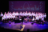 Gateway Men's Chorus presenting The Season in The City holiday concert in Edison Theatre at Washington University in St. Louis, MO on Dec 12, 2014.