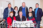 The Kilcummin Rambling house committee presents a cheque to Recovery Haven in the Club bar on Monday night front l-r: Kathleen O'Sullivan, Tom o'Connor, Siobhain McSweeney. Back row: Eoghan Moriarty, Kathleen Hannigan, Pat O'Sullivan, Maria O'Leary and Conor Doolan