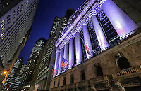 Wall Street Night - New York City