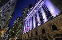 Wall Street Night - New York City