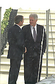 United States President Bill Clinton, right, shakes hands with U.S. President-elect George W. Bush, left as the latter departs the White House in Washington, DC following their meeting on December 19, 2000.<br /> Credit: Ron Sachs / Pool via CNP