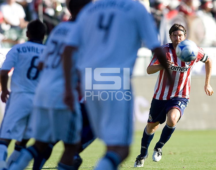 Chivas USA defender Cary Talley moves to the ball. The LA Galaxy and Chivas USA played to 2-2 draw during a MLS Western Conference playoff game at Home Depot Center stadium in Carson, California on Sunday November 1, 2009...