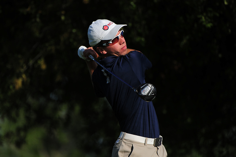 April 16, 2012; Hollister, CA, USA; Saint Mary's Gaels golfer Eric Grimberg during the WCC Golf Championships at San Juan Oaks Golf Club.