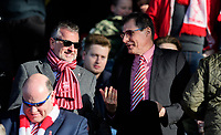 Lincoln City's vice-chairman Roger Bates, left, and Lincoln City chairman Clive Nates<br /> <br /> Photographer Chris Vaughan/CameraSport<br /> <br /> The EFL Sky Bet League Two - Lincoln City v Stevenage - Saturday 16th February 2019 - Sincil Bank - Lincoln<br /> <br /> World Copyright © 2019 CameraSport. All rights reserved. 43 Linden Ave. Countesthorpe. Leicester. England. LE8 5PG - Tel: +44 (0) 116 277 4147 - admin@camerasport.com - www.camerasport.com