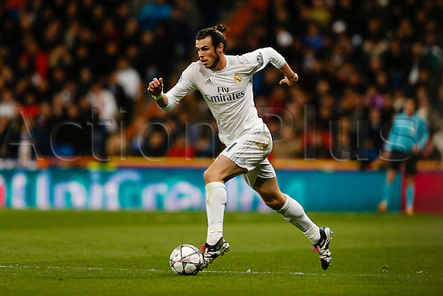 08.03.2016 Estadio Santiago Bernabeu, Madrid, Spain. UEFA Champions League Real Madrid CF versus AS Roma.  Gareth Bale (11) Real Madrid on a forward run.