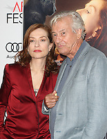 "Hollywood, CA - NOVEMBER 13: Isabelle Huppert, Paul Verhoeven, At AFI FEST 2016 Presented By Audi - A Tribute To Isabelle Huppert And Gala Screening Of ""Elle"" At The Egyptian Theatre, California on November 13, 2016. Credit: Faye Sadou/MediaPunch"