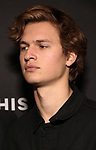 "Ansel Elgort Attends the Broadway Opening Night Arrivals for ""Burn This"" at the Hudson Theatre on April 15, 2019 in New York City."