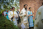 A baptism and slava at Assumption of Mary Serbian Orthodox Church, Fair Oaks, Calif.<br /> <br /> Bishop Maxim lead the celebration