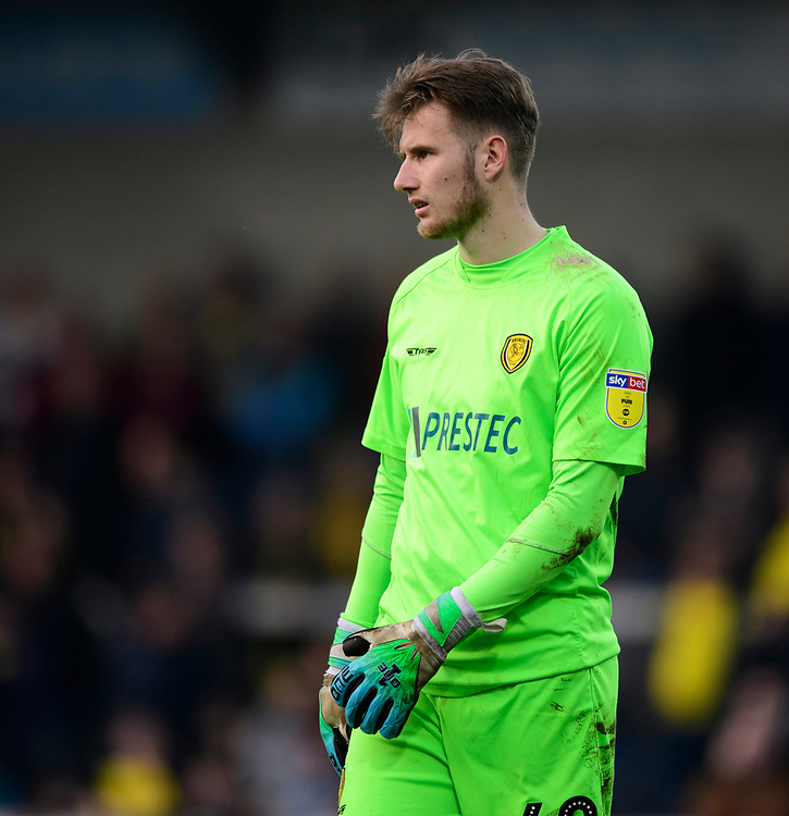 Burton Albion's Bradley Collins<br /> <br /> Photographer Chris Vaughan/CameraSport<br /> <br /> The EFL Sky Bet League One - Saturday 23rd February 2019 - Burton Albion v Fleetwood Town - Pirelli Stadium - Burton upon Trent<br /> <br /> World Copyright © 2019 CameraSport. All rights reserved. 43 Linden Ave. Countesthorpe. Leicester. England. LE8 5PG - Tel: +44 (0) 116 277 4147 - admin@camerasport.com - www.camerasport.com