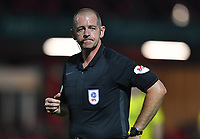 Referee Darren Handley<br /> <br /> Photographer Dave Howarth/CameraSport<br /> <br /> EFL Leasing.com Trophy - Northern Section - Group B - Tuesday 3rd September 2019 - Accrington Stanley v Fleetwood Town - Crown Ground - Accrington<br />  <br /> World Copyright © 2019 CameraSport. All rights reserved. 43 Linden Ave. Countesthorpe. Leicester. England. LE8 5PG - Tel: +44 (0) 116 277 4147 - admin@camerasport.com - www.camerasport.com