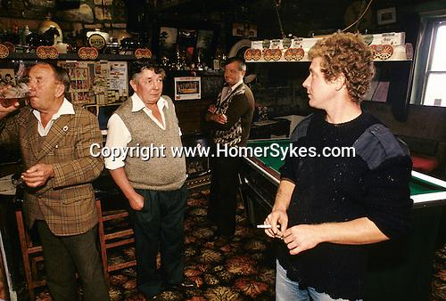 The King Head, High Ham, Sopmerset, UK Village pub sunday morning drink. 1980s