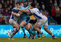 Exeter Chiefs' Ian Whitten in action during todays match<br /> <br /> Photographer Bob Bradford/CameraSport<br /> <br /> European Rugby Heineken Champions Cup Pool 2 - Exeter Chiefs v Castres - Sunday 13th January 2019 - Sandy Park - Exeter<br /> <br /> World Copyright &copy; 2019 CameraSport. All rights reserved. 43 Linden Ave. Countesthorpe. Leicester. England. LE8 5PG - Tel: +44 (0) 116 277 4147 - admin@camerasport.com - www.camerasport.com