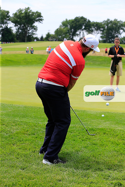 Andrew Johnston (ENG) at the 10th green during Wednesday's Practice Day of the 2016 U.S. Open Championship held at Oakmont Country Club, Oakmont, Pittsburgh, Pennsylvania, United States of America. 15th June 2016.<br /> Picture: Eoin Clarke | Golffile<br /> <br /> <br /> All photos usage must carry mandatory copyright credit (&copy; Golffile | Eoin Clarke)