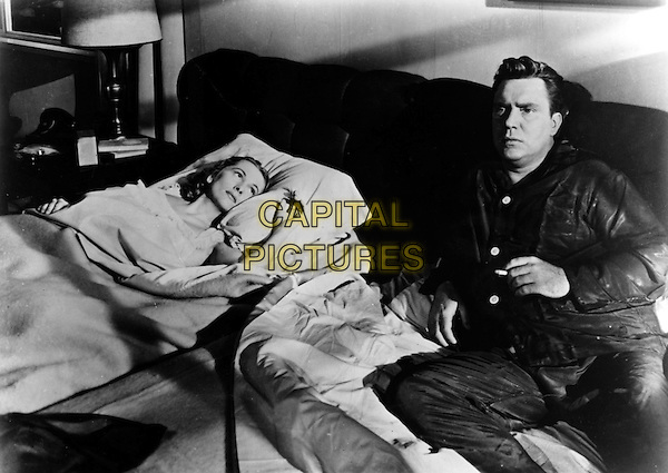 JOAN FONTAINE, EDMOND O'BRIEN<br /> in The Bigamist (1953) <br /> (Bigamie)<br /> *Filmstill - Editorial Use Only*<br /> CAP/NFS<br /> Image supplied by Capital Pictures