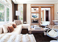 Living room, Sunny, casual, leather chairs, sectional sofa, glenn daidone architectural photography,robert zemnickis, Nuhouse design miami florida