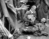 May 4, 1945. - At the German concentration camp at Wobbelin, many inmates were found by the U.S. Ninth Army in pitiful condition. Here one of them breaks out in tears when he finds he is not leaving with the first group to the hospital. Germany, May 4, 1945. Pvt. Ralph Forney. (Army)