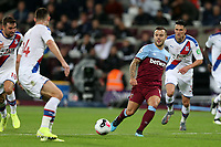 Jack Wilshere of West Ham United and Gary Cahill of Crystal Palace during West Ham United vs Crystal Palace, Premier League Football at The London Stadium on 5th October 2019
