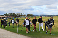 Tony Finau (USA) walking up the 17th during Round 3 of the Alfred Dunhill Links Championship 2019 at St. Andrews Golf CLub, Fife, Scotland. 28/09/2019.<br /> Picture Thos Caffrey / Golffile.ie<br /> <br /> All photo usage must carry mandatory copyright credit (© Golffile | Thos Caffrey)