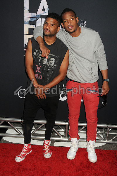 "8 June 2015 - Los Angeles, California - Damien Wayans, Marlon Wayans. LA Film Festival 2015 Premiere of ""Dope"" held at Regal Cinemas L.A. Live. Photo Credit: Byron Purvis/AdMedia"