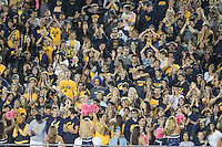 BERKELEY, CA - October 21, 2016: Fans in the stands cheer. Cal played Oregon at Cal Memorial Stadium.