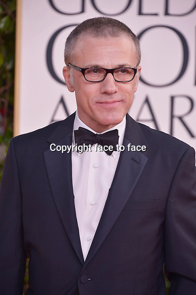 Christoph Waltz arriving at the 70th Annual Golden Globe Awards held at The Beverly Hilton Hotel on January 13, 2013 in Beverly Hills, California...credit: face to face