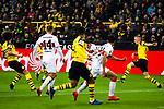 09.03.2019, Signal Iduna Park, Dortmund, GER, 1.FBL, Borussia Dortmund vs VfB Stuttgart, DFL REGULATIONS PROHIBIT ANY USE OF PHOTOGRAPHS AS IMAGE SEQUENCES AND/OR QUASI-VIDEO<br /> <br /> im Bild   picture shows:<br /> Torschuss Steven Zuber (VfB Stuttgart #9), <br /> <br /> Foto &copy; nordphoto / Rauch