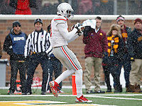 Ohio State Buckeyes wide receiver Michael Thomas (3) makes a touchdown catch against Minnesota Golden Gophers during the 3rd quarter at TCF Bank Stadium in Minneapolis, Minn. on November 15, 2014.  (Dispatch photo by Kyle Robertson)