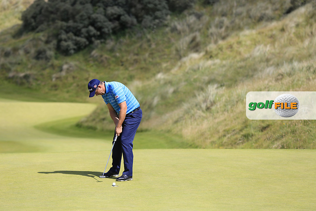 Padraig Harrington (IRL) putts on the 2nd green during Saturday's Round 3 of the 2017 Dubai Duty Free Irish Open held at Portstewart Golf Club, Portstewart, Co Derry, Northern Ireland. 08/07/2017<br /> Picture: Golffile | Eoin Clarke<br /> <br /> <br /> All photo usage must carry mandatory copyright credit (&copy; Golffile | Eoin Clarke)