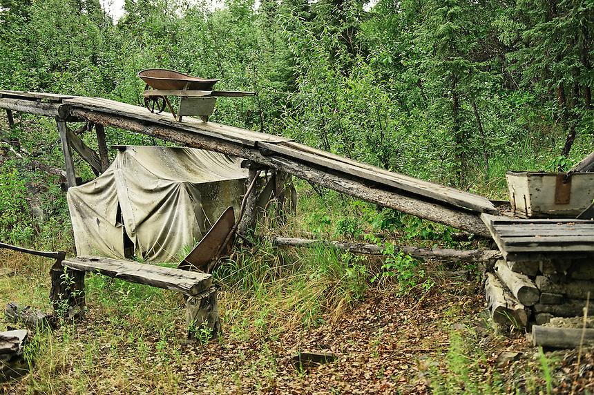 Gold mining and prospecters camp recreation, Fairbanks, Alaska