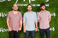 "Borja Cobeaga (Left) attend the photocall of the Premiere of the movie ""Boyhood"" at the Cineteca in Madrid, Spain. September 09, 2014. (ALTERPHOTOS/Carlos Dafonte)"