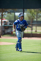 Kansas City Royals catcher Chase Vallot (3) during an Instructional League game against the Chicago White Sox at Camelback Ranch on September 25, 2018 in Glendale, Arizona. (Zachary Lucy/Four Seam Images)