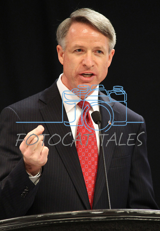 Nevada Congressional District 2 candidate Kirk Lippold speaks at a special meeting of the state Republican central committee, June 18, 2011 in Reno, Nev. The committee selected Mark Amodei as the party nominee for the upcoming sepcial election..Photo by Cathleen Allison