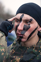 Krasnoarmeysk, Moscow Region, Russia, 29/10/2010..Russian special forces prepare for a training exercise at a military base outside Moscow. The exercise was part of the Interpolitex 2010 state security exhibition.