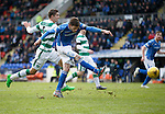 St Johnstone v Celtic...13.12.15  SPFL  McDiarmid Park, Perth<br /> Murray Davidson shoots for goal<br /> Picture by Graeme Hart.<br /> Copyright Perthshire Picture Agency<br /> Tel: 01738 623350  Mobile: 07990 594431