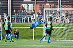 ALSBACH, GERMANY - OCTOBER 28: Verbandsliga match between FC Alsbach (green) and FC Kickers Obertshausen (white) at FC Alsbach sports ground on October 28, 2012 in Alsbach, Germany. Game ended 2-0. (Photo by Dirk Markgraf)