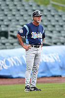 Corpus Christi Hooks manager Keith Bodie (11) during a game against the NW Arkansas Naturals on May 26, 2014 at Arvest Ballpark in Springdale, Arkansas.  NW Arkansas defeated Corpus Christi 5-3.  (Mike Janes/Four Seam Images)