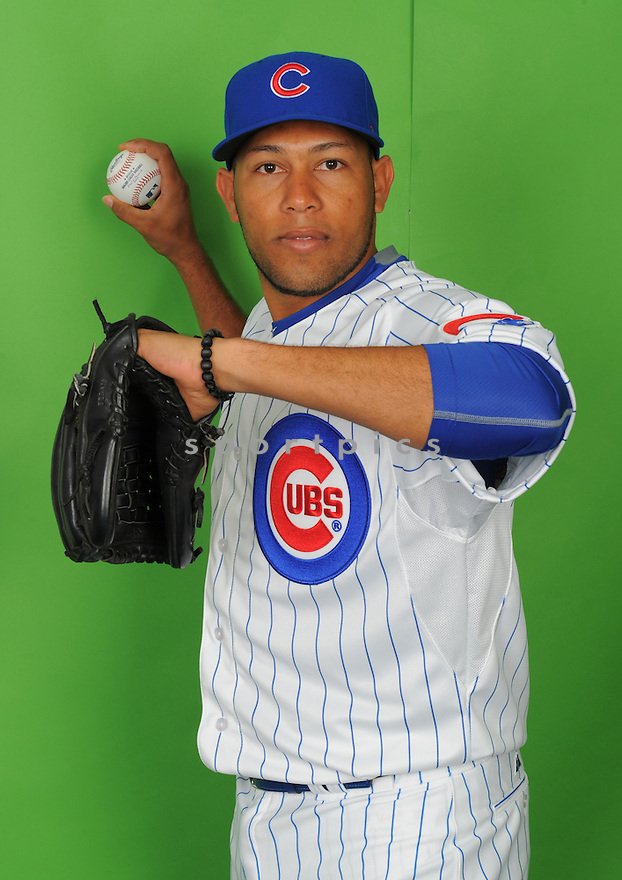 Chicago Cubs Jorge De Leon (72) during photo day on March 2, 2015 in Mesa, AZ.