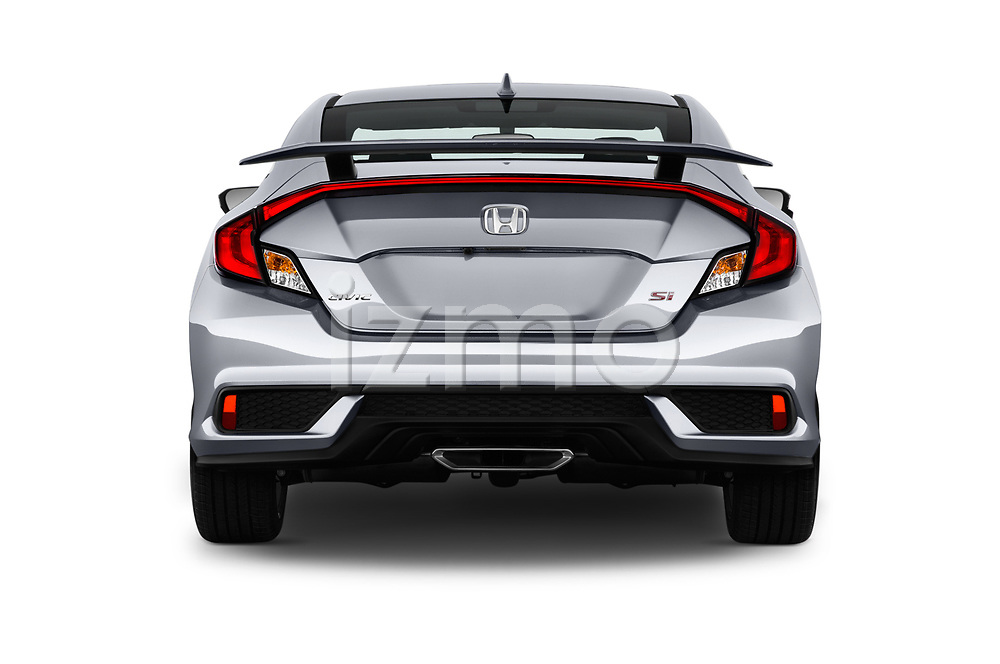 Straight rear view of a 2017 Honda Civic Si 2 Door Coupe stock images