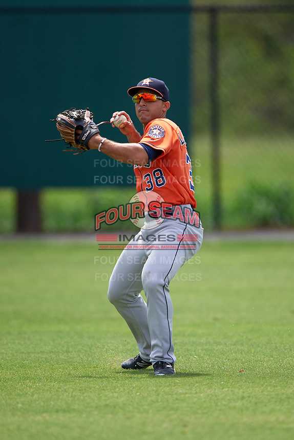 Houston Astros Ramon Laureano (38) during practice before a minor league Spring Training game against the Detroit Tigers on March 30, 2016 at Tigertown in Lakeland, Florida.  (Mike Janes/Four Seam Images)