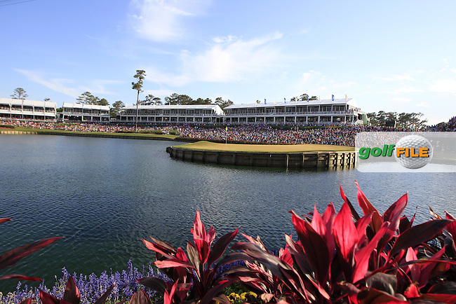 A view of the iconic 17th green during the final round of the Players, TPC Sawgrass, Championship Way, Ponte Vedra Beach, FL 32082, USA. 15/05/2016.<br /> Picture: Golffile | Fran Caffrey<br /> <br /> <br /> All photo usage must carry mandatory copyright credit (&copy; Golffile | Fran Caffrey)