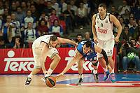 Real Madrid´s Rudy Fernandez and Anadolu Efes´s Dario Saric during 2014-15 Euroleague Basketball match between Real Madrid and Anadolu Efes at Palacio de los Deportes stadium in Madrid, Spain. December 18, 2014. (ALTERPHOTOS/Luis Fernandez) /NortePhoto /NortePhoto.com