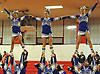 Long Beach performs during the varsity segment of the Freeport Devil Winter Cheerleading Competition at Freeport High School on Sat, Dec. 16, 2017.
