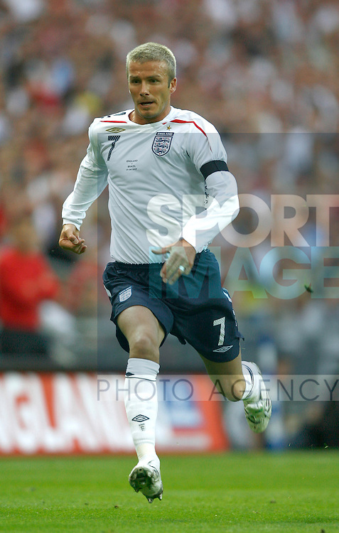 England's David Beckham..International Friendly..England v Brazil..1st June, 2007..--------------------..Sportimage +44 7980659747..admin@sportimage.co.uk..http://www.sportimage.co.uk/