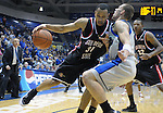 08 March 2008:   San Diego State forward, Lorrenzo Wade (31) drives for the basket during the Aztec's 46-43 Mountain West Conference loss to the Air Force Falcons at Clune Arena, U.S. Air Force Academy, Colorado Springs, Colorado.