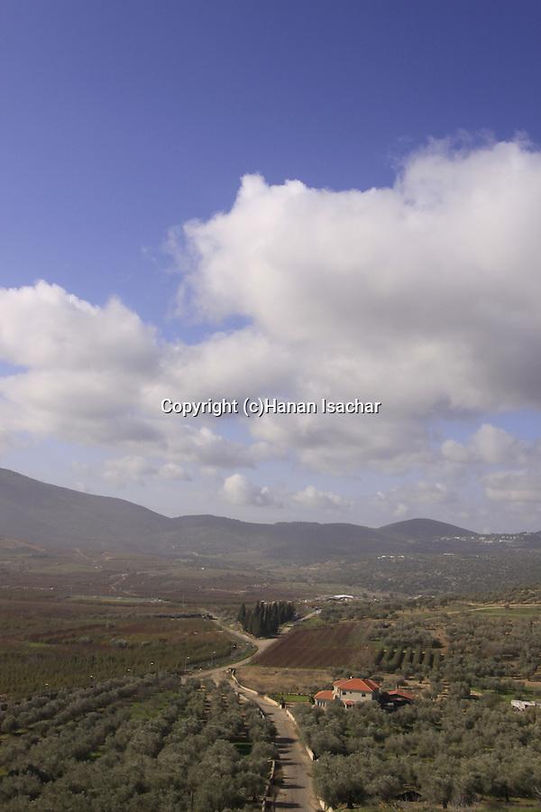Israel, Upper Galilee, a view from Gush Halav(Jish)